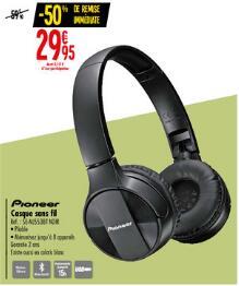 Casque audio Casque audio sans-fil Pioneer SE-MJ553BT – noir