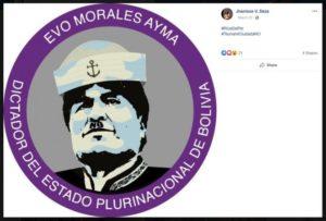 Bureau L'ombre des Balkans airplane sur la crise bolivienne
