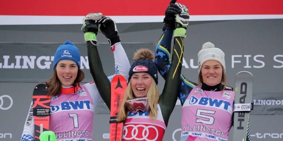 Ski Ski alpin : Shiffrin s'impose en slalom à Killington