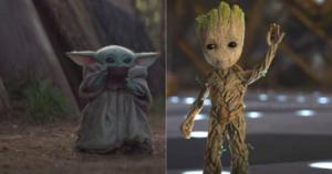Bebe Child Yoda ou Child Groot, lequel prendriez-vous dans votre vaisseau?