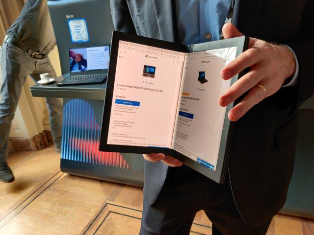 Bureau On a pu mettre la most essential sur le ThinkPad X1 Pliable de Lenovo et ça devient intéressant