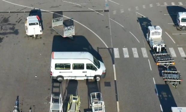 Bagage Test de tracteur autonome à l'aéroport de Toulouse