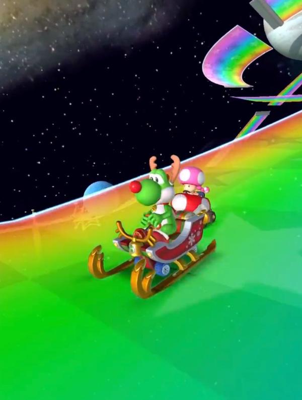 Halloween Mario Kart Tour s'oifre une mise à jour spéciale Noël