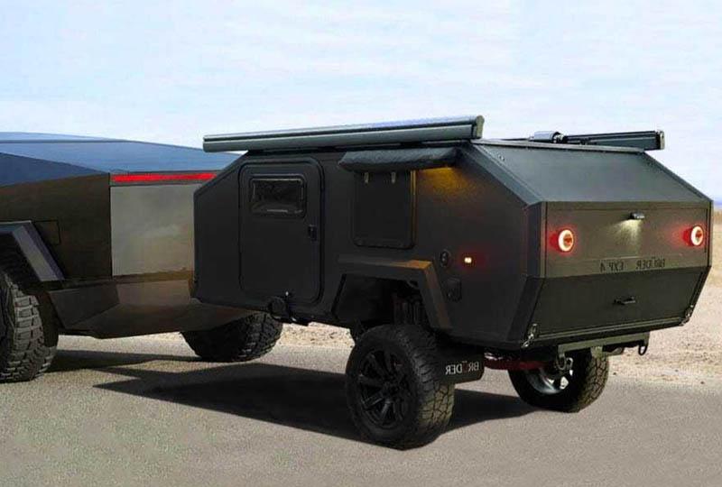 Camping Tesla Cybertruck : s'il lui fallait une caravane, ce serait celle-ci