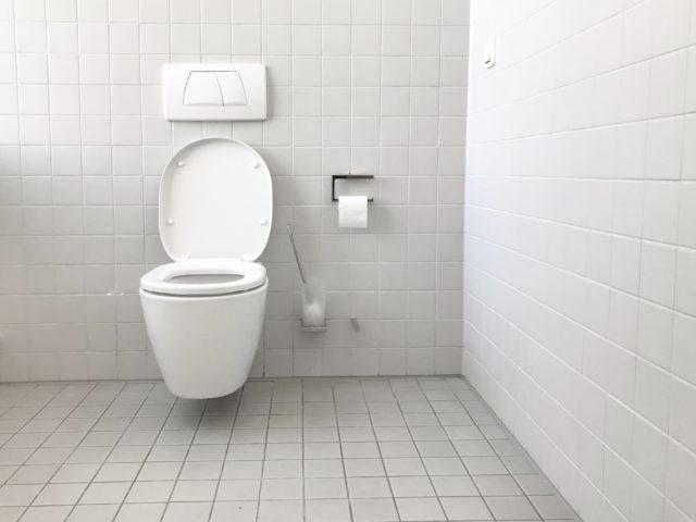 Bureau Ces toilettes glissantes vous empêchent d'y rester trop longtemps