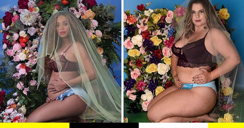 """Lingerie Une instagrameuse """"curvy"""" recrée des images de célébrités version body-positivisme"""