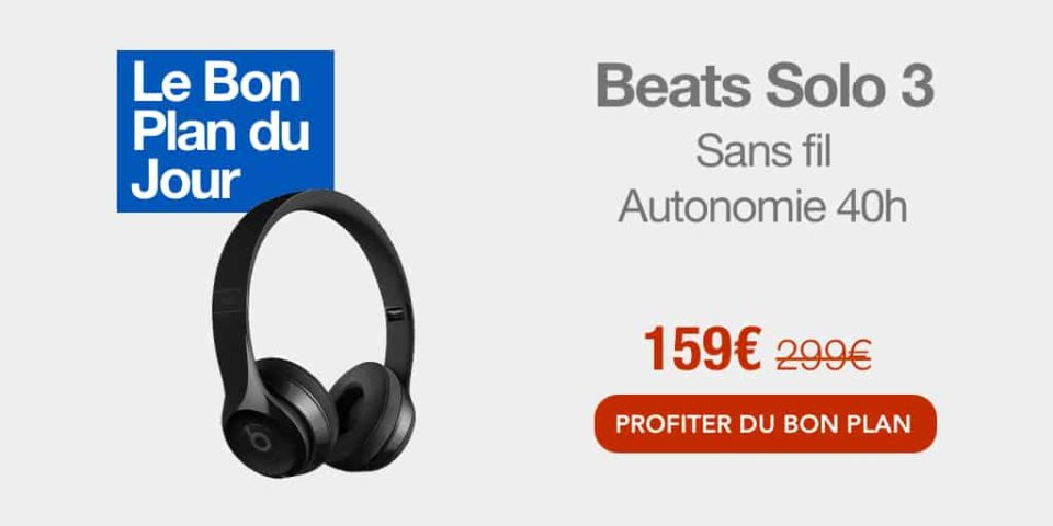 Casque audio Bon belief : le casque sans fil Beats Solo 3 ragged à 159€