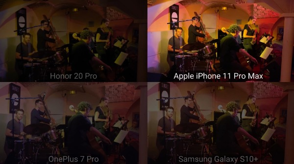 Casque audio L'iPhone 11 Official Max face à 3 concurrents sur le concept de l'enregistrement audio (vidéo)