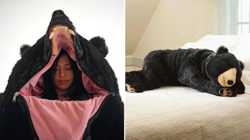 Camping Un sac de couchage en forme d'ours idéal pour entrer en hibernation cet hiver
