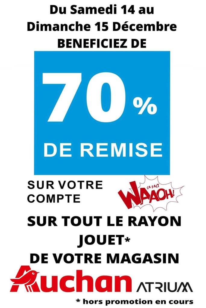 Jouet 70% de remise sur tout le rayon jouets – Auchan Ajaccio