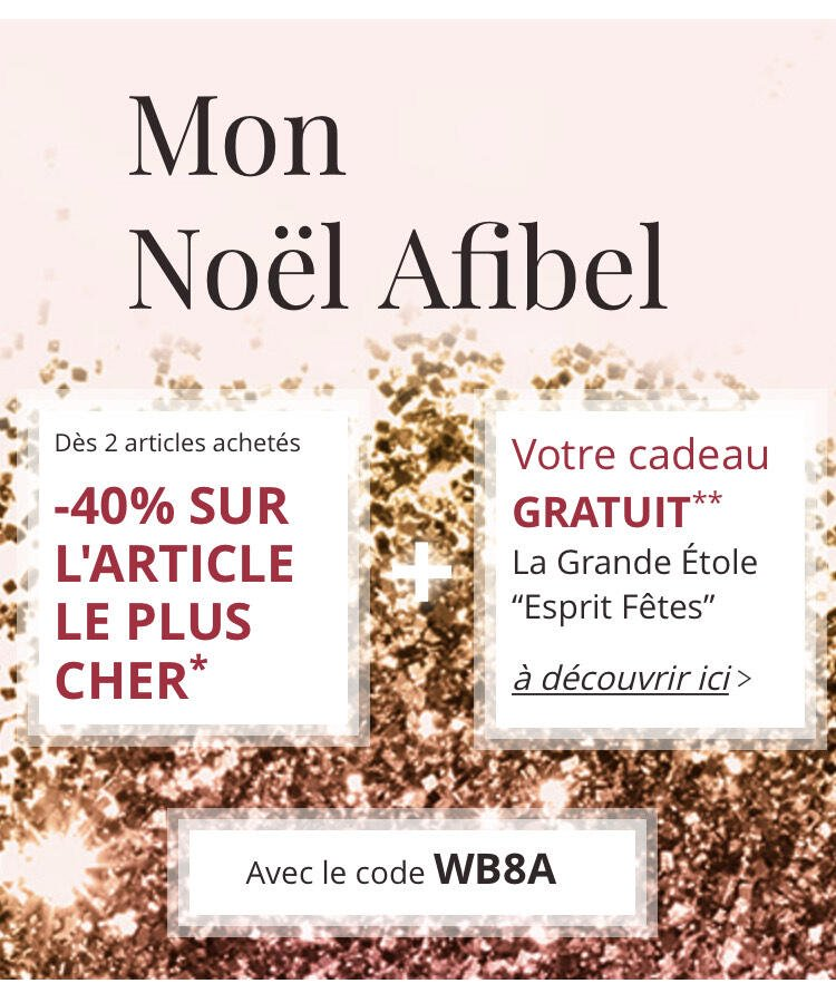 Bijoux 1 article acheté = 40% de réduction sur le 2ème article (afibel.com)