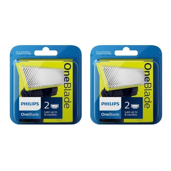 Rasage Lot de 2 x 2 Lames pour rasoir Philips OneBlade