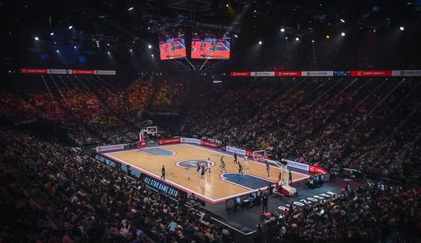 Basket Le All Well-known person Game prêt à enflammer Bercy