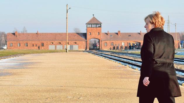 Enfant Merkel à Auschwitz: «Se souvenirdes crimes, nommer leurs auteurs»