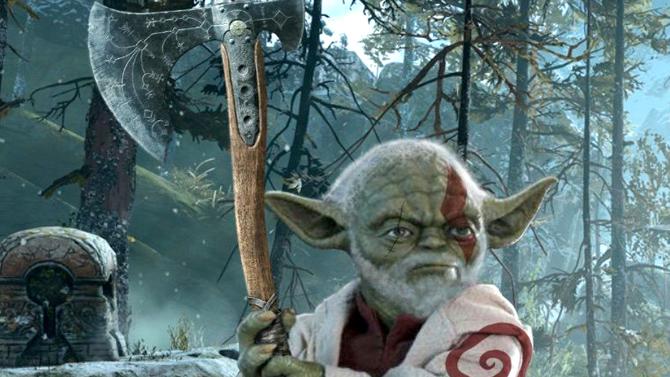 High-tech L'picture du jour : Child Yoda, dans God of Battle, tu es