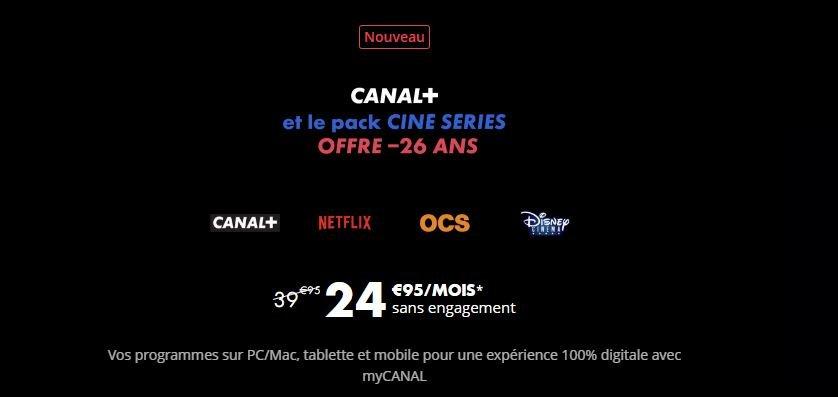 Bureau [Bon Plan] Vous avez moins de 26 ans ? CANAL+ et le pack CINE SERIES avec Netflix inclus est à 24.95€ par mois !