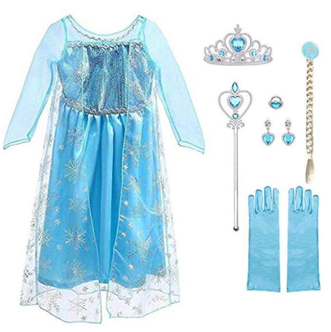 Deguisement Robe Reine des Neiges taille 3-4 ans