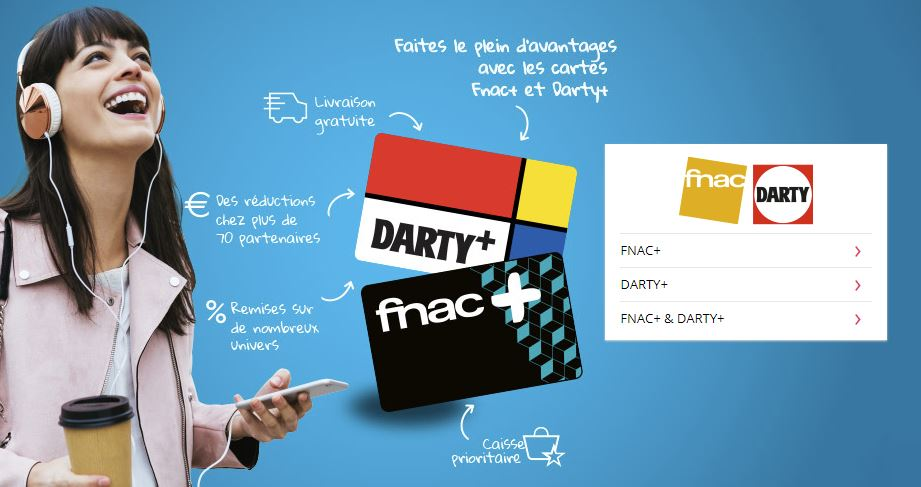 Livres [Bon Plan] Abonnement d'un an à la carte Fnac+ ou Darty+ pour 9,Ninety 9 euros