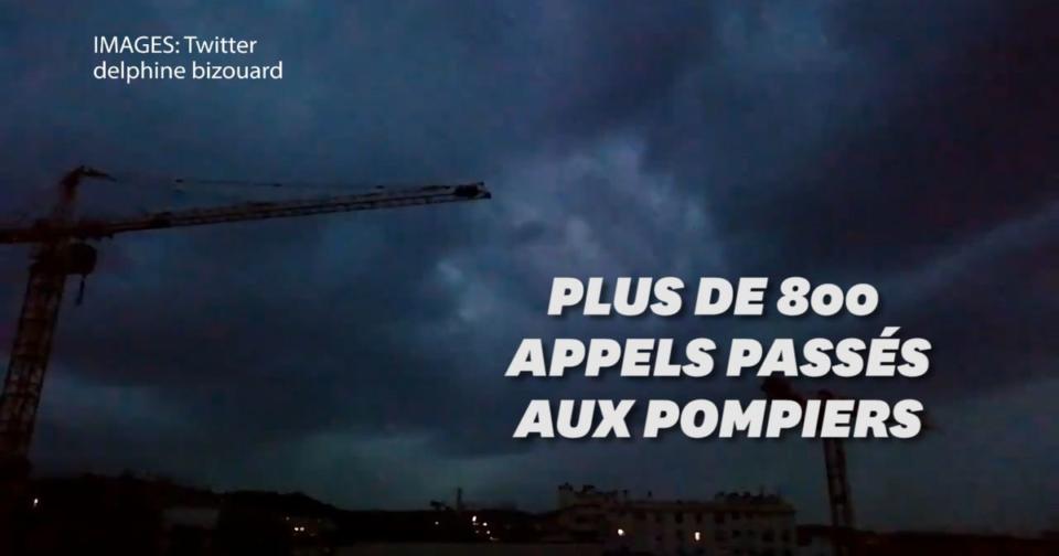 Chaussures Les pictures du violent orage qui a traversé Paris ce samedi