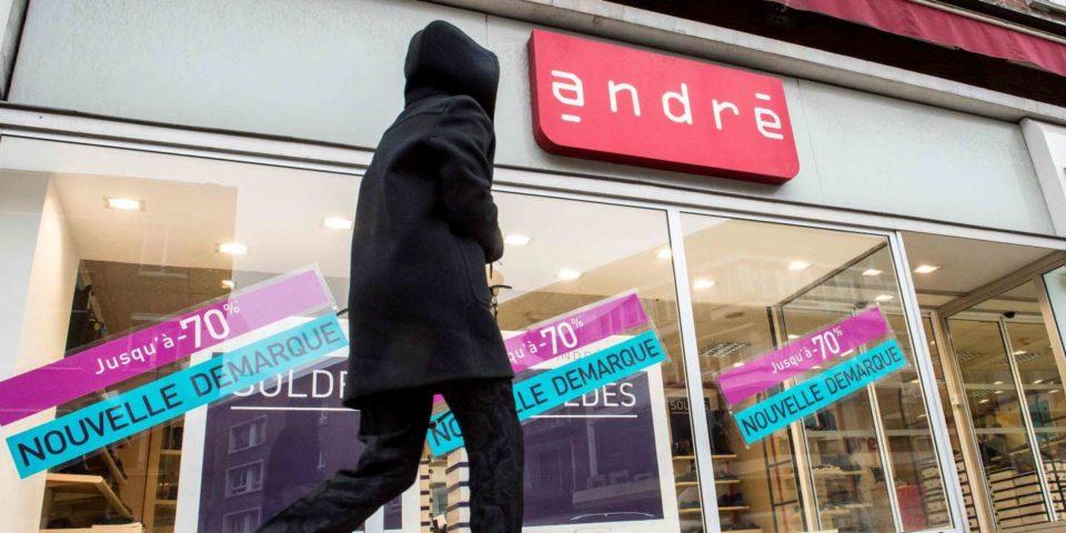 Chaussures de sport Un seul candidat à la reprise du chausseur André, touché de plein fouet par le Covid-19