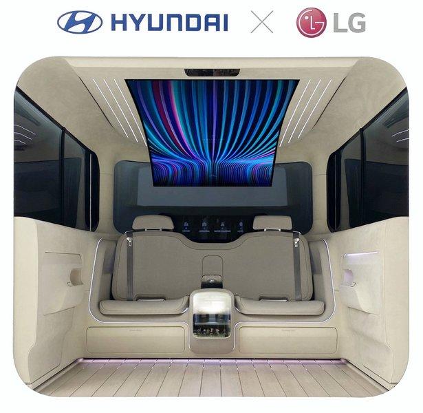 Chaussures LG intègre un écran OLED versatile de 77 pouces dans un thought-car Hyundai